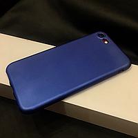 Силиконовый чехол на iPhone 7 синий