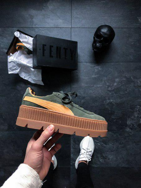 innovative design 45ade 2aa9f Puma x Fenty Cleated Creeper Suede (Rosin Lemon / Vanilla Ice)