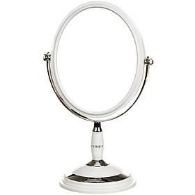 Зеркало косметическое со стразами  двухстороннее с увеличением 29 см 027Z
