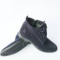 Зимние ботинки мужские Харьков : замшевые синего цвета, на меху, фабрики Van Kristi