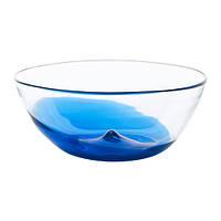 Миска IKEA STOCKHOLM 2017 29 см синий прозрачное стекло 303.394.67