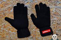 Теплые зимние флисовые перчатки мужские/женские Adidas/адидас Originals Fleece реплика