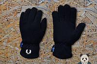 Теплые зимние перчатки на флисе мужские фред перри/Fred Perry