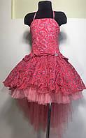 Платье бальное на  6-7 лет Шлеф-бархат