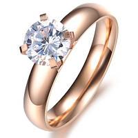 Женское кольцо из нержавеющей ювелирной стали с позолотой Бессмертие 152775