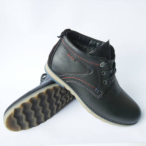 40ab18e93ca2 Мужская Slat обувь украинских производителей   кожаные, зимние ботинки,  черного цвета, на шерсти