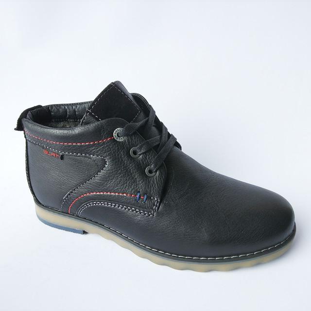 51eaa84a922f Зимняя мужская Slat обувь украинских производителей кожаные ботинки черного  цвета