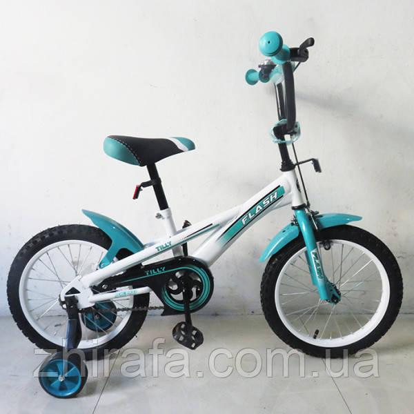 Дитячий Велосипед TILLY FLASH 16 дюймів, бірюзовий