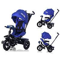 Велосипед-коляска с поворотным сиденьем, надувные колеса TILLY CAYMANСиний