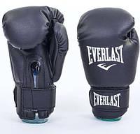 Перчатки боксерские EVERLAST PU 12 oz EV-5378-12-BK черные