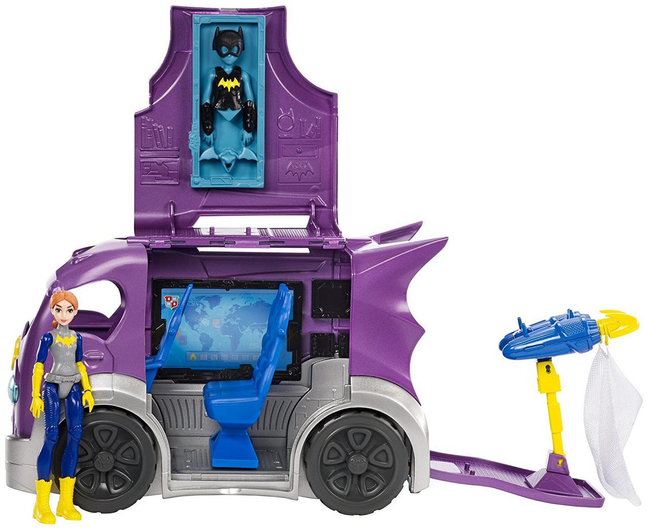 DC Super Hero Girls Супер герои фургон Бетгёрл раскладной Batgirl Vehicle Playset