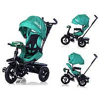 Велосипед-коляска с поворотным сиденьем, надувные колеса TILLY CAYMAN Бирюзовый