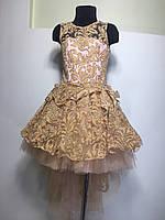 Платье бальное на  6-7 лет Шлеф-бархат, фото 1