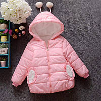 Розовая курточка для девочки весна-осень