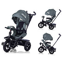 Велосипед-коляска с поворотным сиденьем, надувные колеса TILLY CAYMAN  Серый