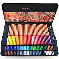 Профессиональные цветные карандаши 100 шт в металлическом пенале, Marco Renoir Fine Art, фото 1