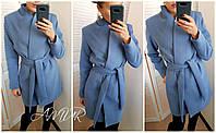 Женское демисезонное пальто на запах