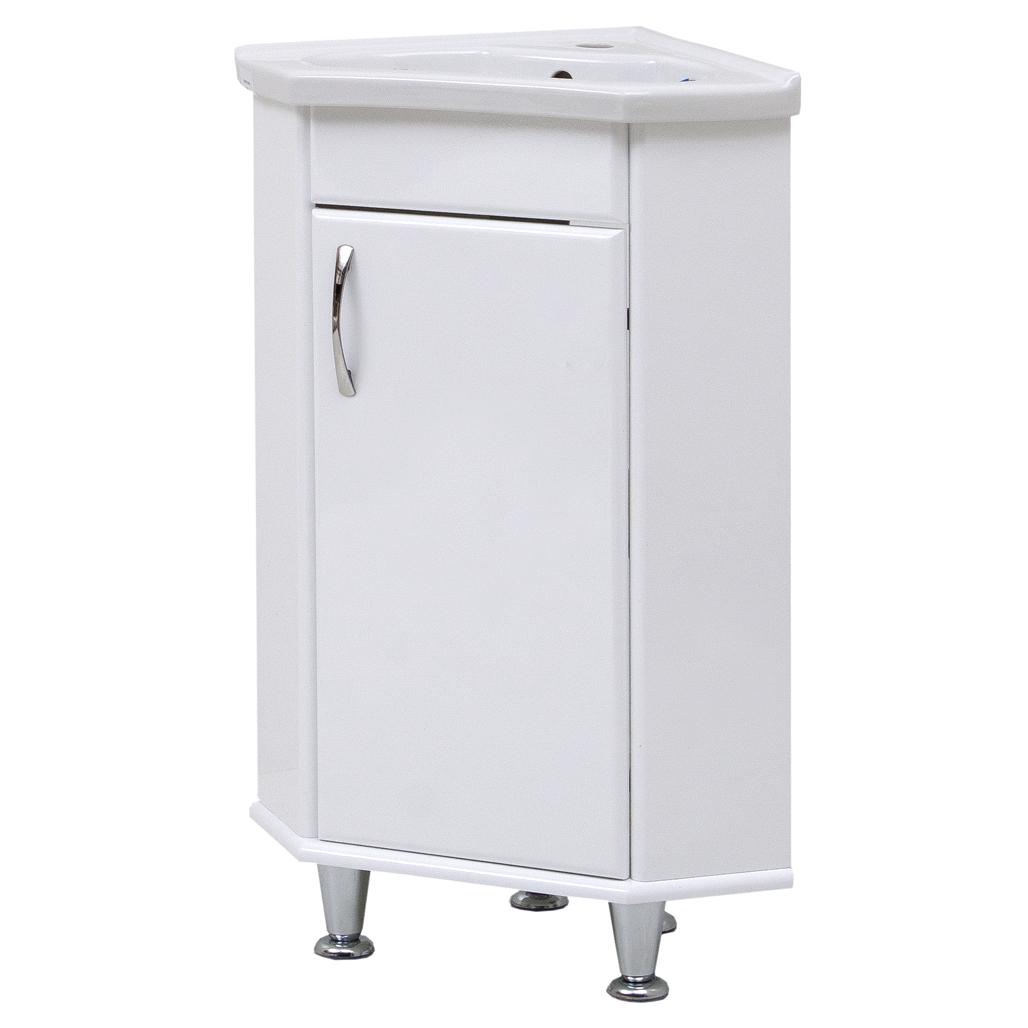 """Тумба под раковину для ванной комнаты Ангулар с умывальником """"Дорадо"""" Юввис"""