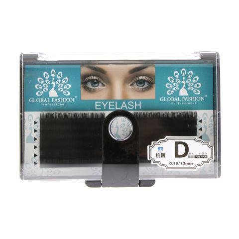 Ленточные ресницы натуральные Global Fashion 12 мм D 0.15