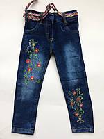 Детские джинсы на девочку 3-6 лет весна