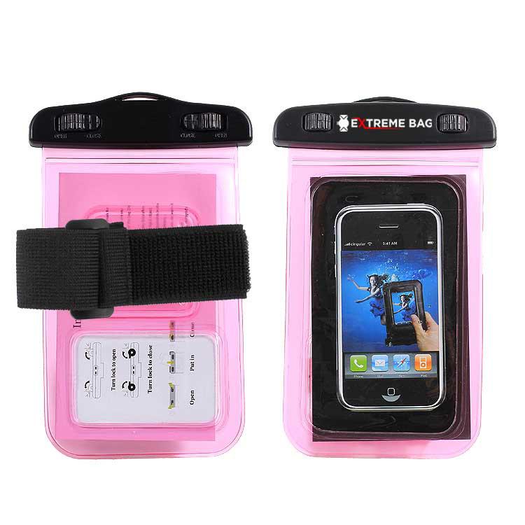 Водонепроницаемый чехол Extreme Bag для смартфонов до 5 '' розовый