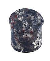 Трикотажная шапка Двойная 52-55р
