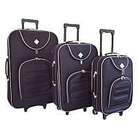 Чемодан Bonro Lux набор 3 штуки темно фиолетовый