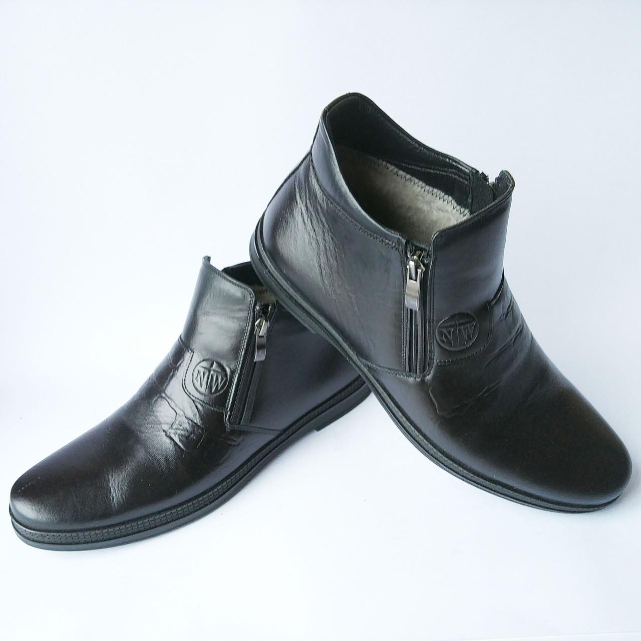 0741c90235ce Nord West обувь Украина   зимние мужские ботинки, кожаные, черного цвета,  на италийском