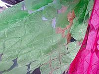 Салатная яркая тюль-штора на органзе