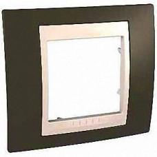Рамка Schneider-Electric Unica Plus 1-пост какао / сл. кость MGU6.002.571