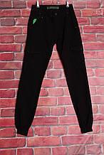 Чоловічі джинси-карго Colomer чорні (код 3009)( розміри 27-32 )