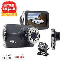 Автомобильный Видеорегистратор DVR T639, Full HD на 2 камеры