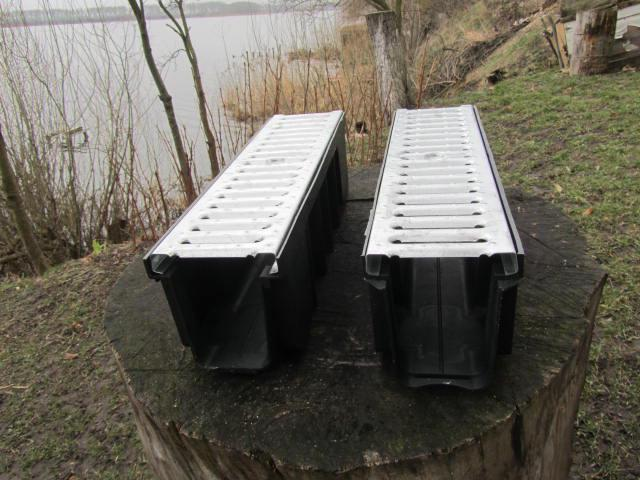 Глубокий лоток поверхностного водоотвода