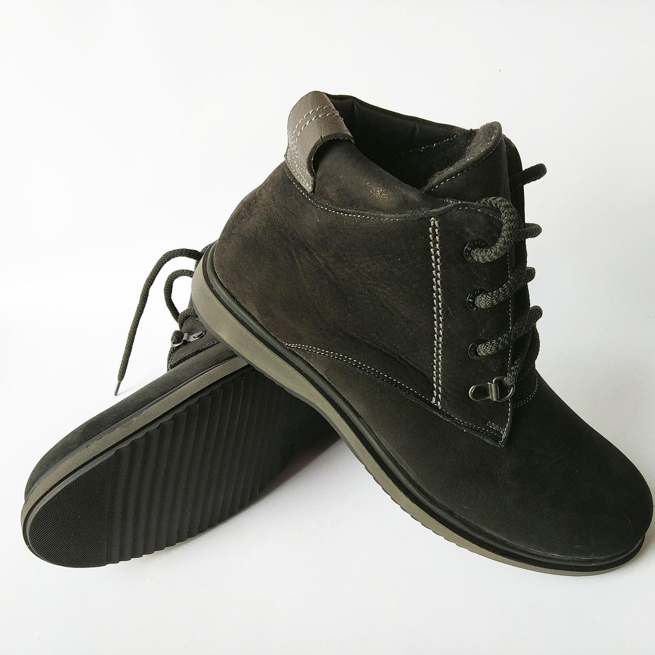 Зимняя обувь Бровары фабрики Cliford   мужские, замшевые ботинки, черного  цвета, на меху 44453b61714