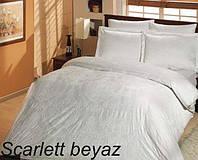 Постельное белье сатин Altinbasak (евро-размер) № Skarlett Beyaz, фото 1