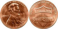 США 1 цент 2014 р.
