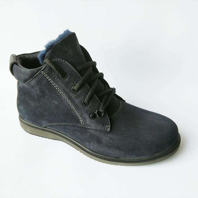 Купить зимнюю, мужскую обувь от Cliford Бровары замшевые ботинки, синего цвета, на меху