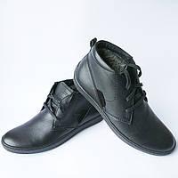 3d371614fba2 Зимняя мужская обувь украинских производителей   кожаные ботинки, черного  цвета, на меху, фабрики