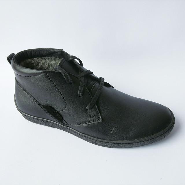 7694d798737e Повседневная, зимняя, мужская обувь украинских производителей кожаные  ботинки, черного цвета, на меху