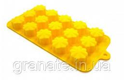 Силиконовая форма для конфет лед Цветочки 21х11 см