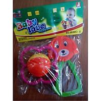 Погремушка 880 2 цвета, в кульке, 14,5-7-3,5см( Ч )