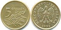 Польша 5 грошей 1990-2016гг., фото 1
