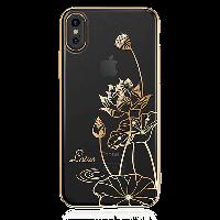 Чехол Kingxbar Lotus Iphone Х / XS (Champagne Gold), фото 1
