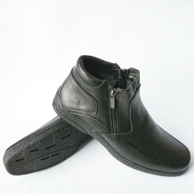 Повседневные зимние мужские ботинки Вся обувь в наличии, отправка в кратчайшие сроки, ждём ваших заказов.  С уважением сеть мужской обуви Para Подробнее: https://para-obuwie.com/p654588035-kozhanaya-obuv-ikos.html кожаные черного цвета на шерсти с двумя замками