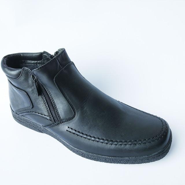 Повседневные зимние мужские ботинки Вся обувь в наличии, отправка в кратчайшие сроки, ждём ваших заказов.  С уважением сеть мужской обуви Para Подробнее: https://para-obuwie.com/p654588035-kozhanaya-obuv-ikos.html кожаные черного цвета с двумя замками на шерсти