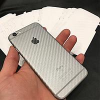 Защитная карбоновая пленка для iPhone 6/6s прозрачная