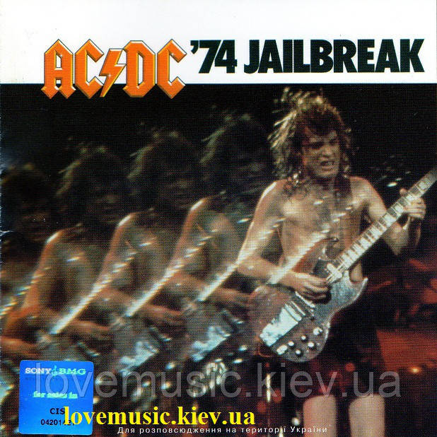 Музичний сд диск AC/DC 74 Jailbreak (1984) (audio cd)
