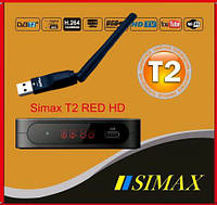 Т2 тюнер с YouTube Simax T2 RED HD + Wi-Fi адаптер