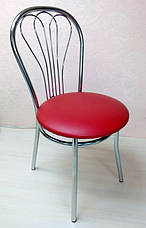 Чехол с Бантом-поясом на круглый стул из прочной лёгкой ткани, фото 3