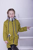 Куртка детская весенняя Тэффи (весна 2018) на девочку , яблоко. От производителя